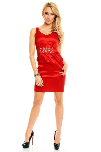 Официална рокля с фин блясък
