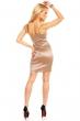 Беже рокля с фин блясък