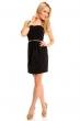 Нежна рокля в черно и златисто