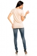 Беже блуза с атрактивен принт
