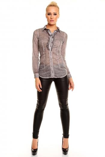 Фина блуза с дълъг ръкав