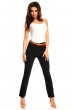 Стилен панталон с цветен колан