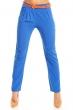 Стилен лазурносин панталон с цветен колан Italy Moda