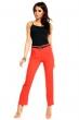 Стилен панталон в лъчисто червено с колан
