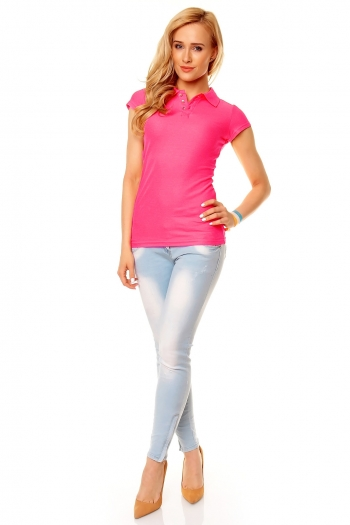 Поло тениска Eight2Nine в интензивно розово