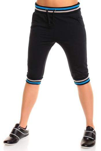 Спортна дамска долница черно и синьо