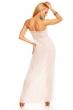 Дълга лятна рокля в лайт беже