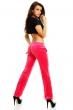 Спортен дамски панталон плюш - кралско розово