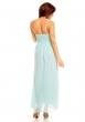 Дълга бледосиня официална рокля