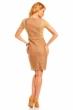 Формална рокля карамел дантела