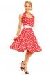 Лятна червена рокля на точки Mayaadi
