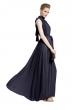 Дълга разкроена рокля цвят тъмносин