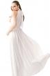 Дълга разкроена рокля цвят бял