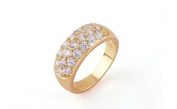 Ослепителен дамски пръстен с циркониеви камъчета Dekolte