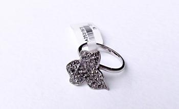 Дамски пръстен листо с кристали