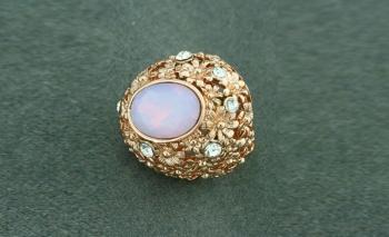 Златист пръстен Лунен камък