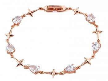 Позлатена 18К розово злато дамска гривна