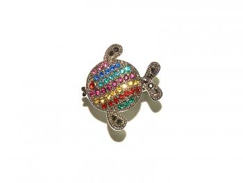 Дамски пръстен рибка с кристали