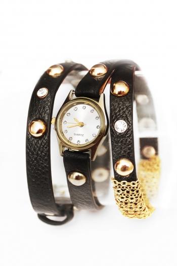 Дамски часовник кожена гривна CHROME