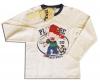 Бяла детска блуза с принт аниме