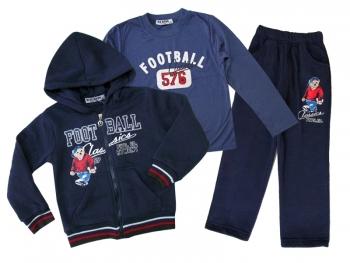 Комплект анцуг с блуза 3 части - синьо 4 г