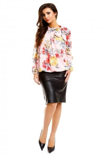 Елегантна дамска блуза розе флорал - ROSA