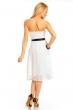 Разкроена рокля без ръкави Mayaadi - цвят бял