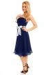 Разкроена рокля без ръкави Mayaadi - цвят тъмносин