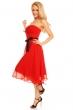 Разкроена рокля без ръкави Mayaadi - цвят червен