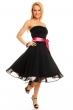 Разкроена рокля без ръкави Mayaadi - цвят черен