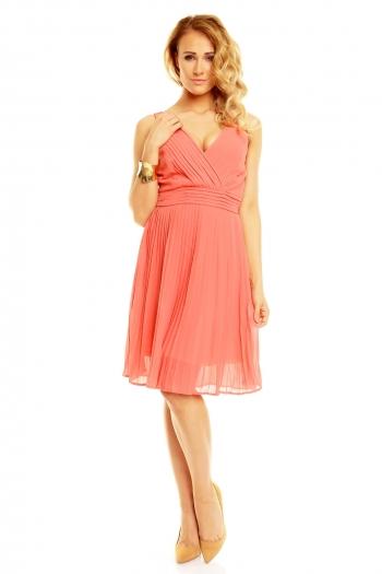 Нежна плисирана рокля Maia Hemera в блед розов цвят