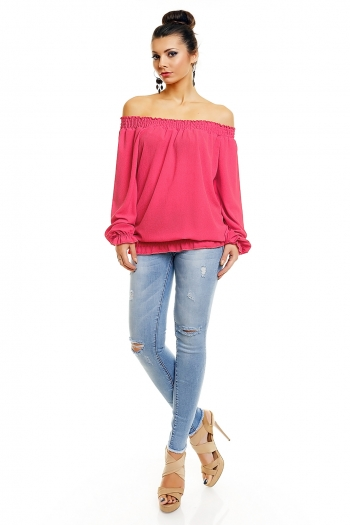 Нежна блуза Luisa в цикламено