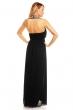 Дълга рокля в черно с пищно декорирана яка EmmaAshley