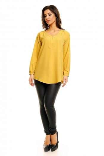 Блуза в цвят горчица Miliana