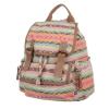 Чанта-раница с цветен принт - пастел