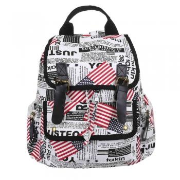 Чанта-раница с цветен принт - лондон
