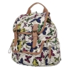 Чанта-раница с цветен принт - пеперуди