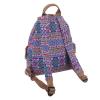 Чанта-раница - лилав принт
