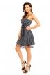 Тъмносиня рокля на точки LV Gold