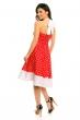 Винтидж рокля Mayaadi - червено и бяло