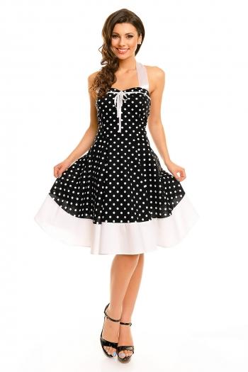 Винтидж рокля Mayaadi - черно и бяло