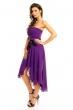 Лилава рокля Mayadii асиметрична с колан
