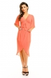 Елегантна рокля в млечно коралов цвят Mayadii