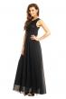 Дълга рокля с дантела в черно Eva Lola