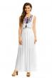 Дълга лятна рокля в бяло May Co