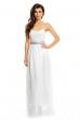 Дълга бяла рокля без презрамки Maia Hemera