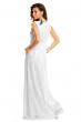 Дълга бяла рокля с декоративна бродерия Maia Hemera