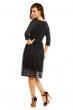 Официална рокля Mayaadi в цвят черен