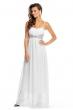 Дълга бяла рокля с акрил Maia Hemera