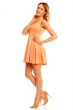 Елегантна къса рокля Mayaadi в масленооранжев цвят